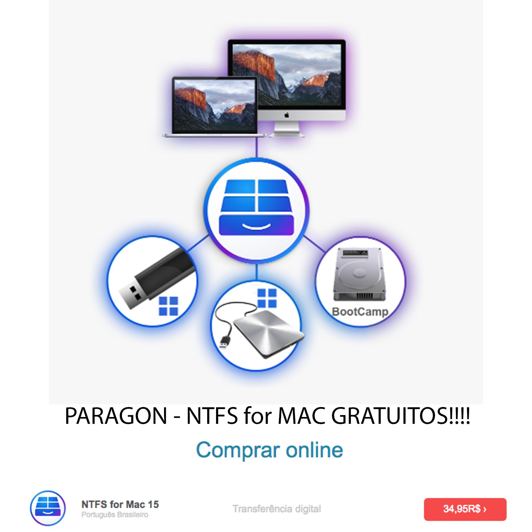 Paragon NTFS for MAC Grátis – Saiba como!